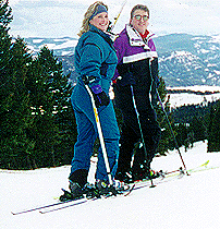 Gracie hits the slopes with her husband Peter